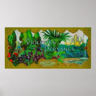 Violettes Persanes Soap LabelParis, France Poster
