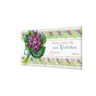 Violettes Soap LabelParis, France Canvas Print