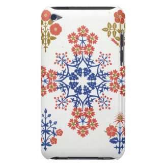 Violiet, iris and tulip motif wallpaper design, pr barely there iPod case