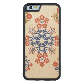 Violiet, iris and tulip motif wallpaper design, pr carved maple iPhone 6 bumper case