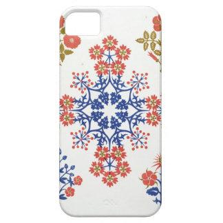 Violiet, iris and tulip motif wallpaper design, pr iPhone SE/5/5s case