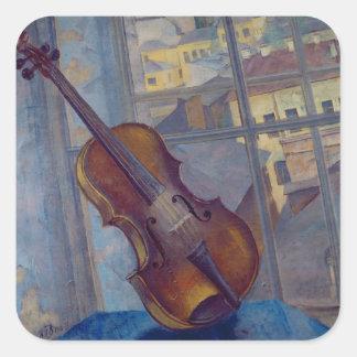 Violin, 1918 square sticker