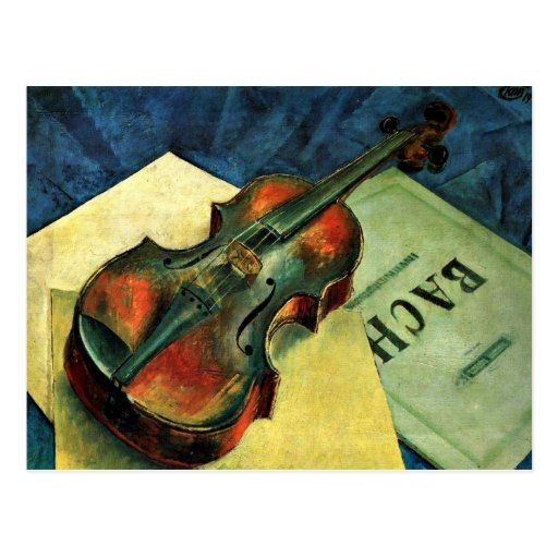 Violin Painting by Kuzma Petrov-Vodkin (1921) Postcard