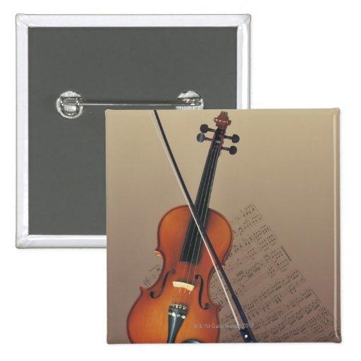 Violin 2 Inch Square Button