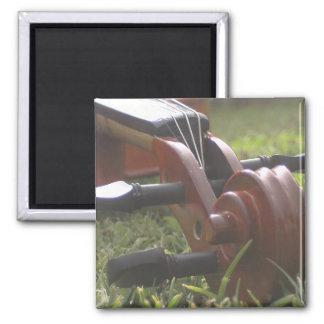 Violin 2 Inch Square Magnet