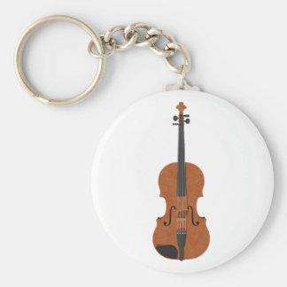 Violin: 3D Model: Basic Round Button Keychain