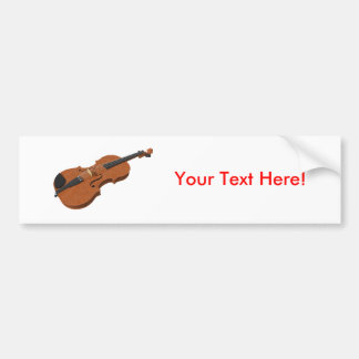Violin: 3D Model: Bumper Sticker