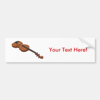 Violin: 3D Model: Car Bumper Sticker