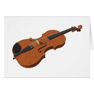 Violin: 3D Model: Card
