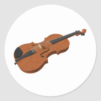 Violin: 3D Model: Classic Round Sticker