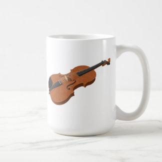 Violin: 3D Model: Classic White Coffee Mug