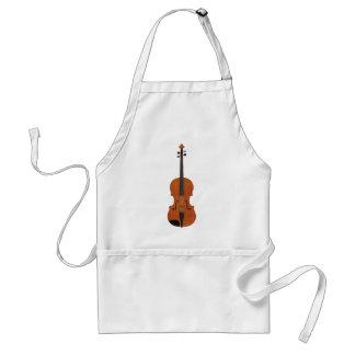 Violin 3D Model: Traditional Wood Finish Adult Apron