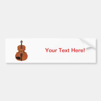 Violin 3D Model: Traditional Wood Finish Car Bumper Sticker