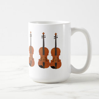 Violin 3D Model: Traditional Wood Finish Coffee Mug