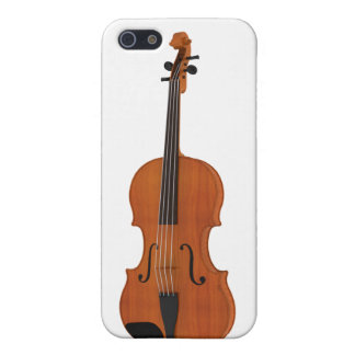 Violin 3D Model: Traditional Wood Finish Cover For iPhone SE/5/5s