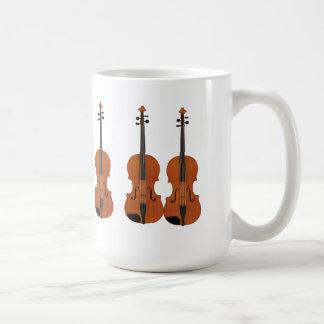 Violin 3D Model: Traditional Wood Finish Classic White Coffee Mug
