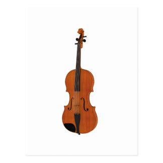 Violin 3D Model: Traditional Wood Finish Postcard