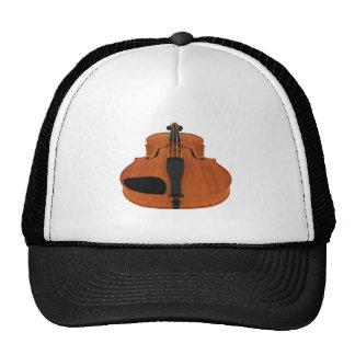 Violin 3D Model: Traditional Wood Finish Trucker Hat