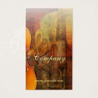 Violin Abstract 3 Warm Tones Business Card