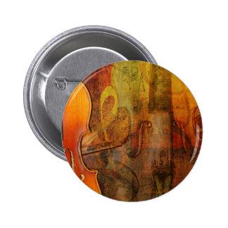 Violin Abstract 3 Warm Tones Pins