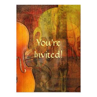 Violin Abstract 3 Warm Tones Card