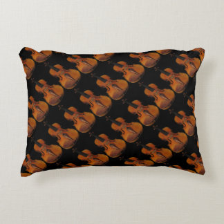 Violin Abstract Accent Pillow