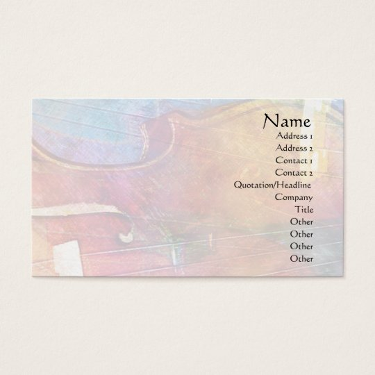 Violin Abstract One Business Card