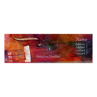 Violin Abstract One Double-Sided Mini Business Cards (Pack Of 20)