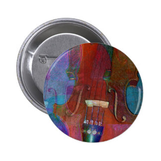 Violin Abstract Two Buttons