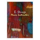 Violin Abstract Two Large Business Card