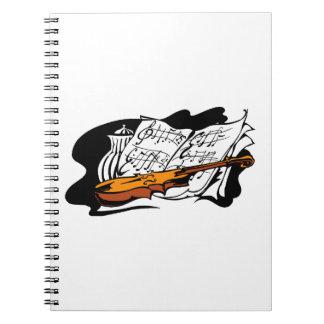 violin accent music jar still life.png spiral notebook
