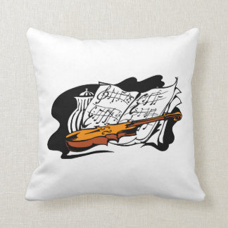 violin accent music jar still life.png throw pillow