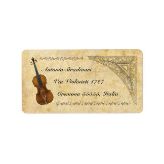 Violin Address Label