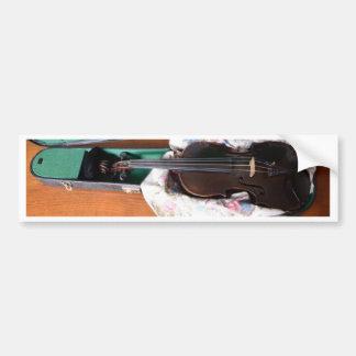 Violín alemán antiguo pegatina de parachoque