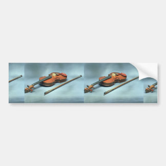 Violin and bow bumper stickers