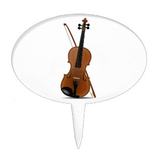 Violin and Bow Cake Topper