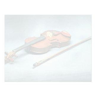 Violin and bow custom letterhead