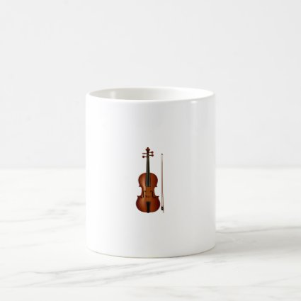 VIolin and bow realistic graphic Classic White Coffee Mug
