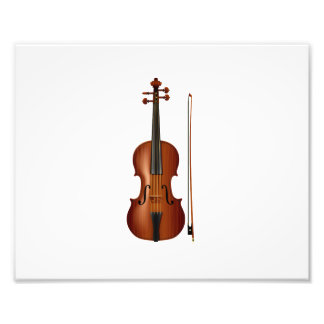 VIolin and bow realistic graphic Photographic Print