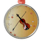 violin and bow, spring flower, musical