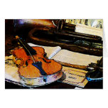 Violin and Bugle Greeting Cards