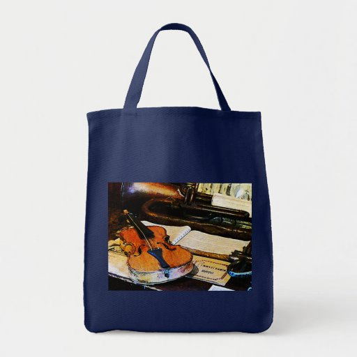 Violin and Bugle Grocery Tote Bag
