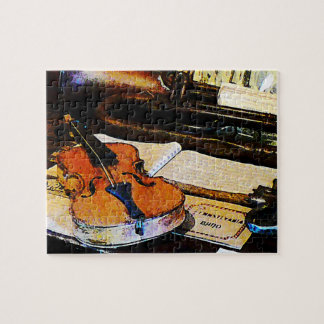 Violin and Bugle Jigsaw Puzzle