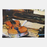 Violin and Bugle Kitchen Towels