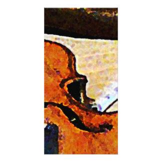 Violin and Bugle Custom Photo Card