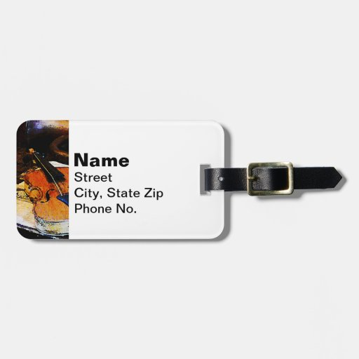 Violin and Bugle Tag For Bags