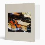 Violin and Bugle Vinyl Binders