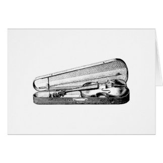 Violin and case card