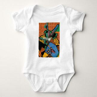 Violin and Checkerboard Baby Bodysuit