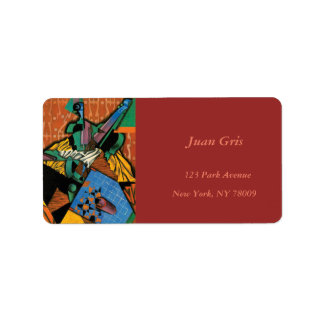 Violin and Checkerboard by Juan Gris Label